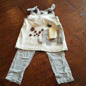 Mud pie summer outfit.